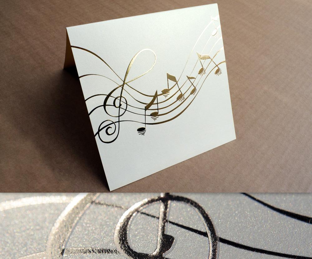 Pozivnica za venčanje sa zlatotiskom