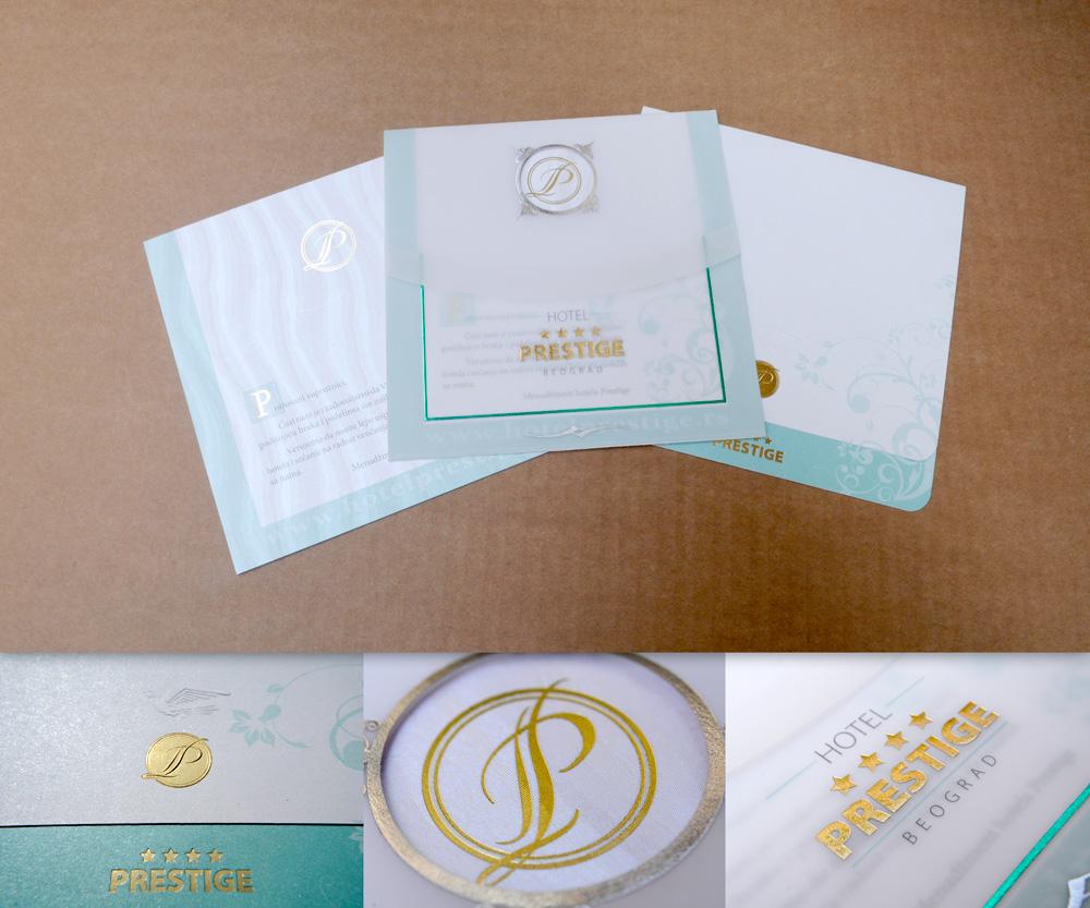 Pozivnica sa zlatotiskom i suvim žigom (blindrukom)